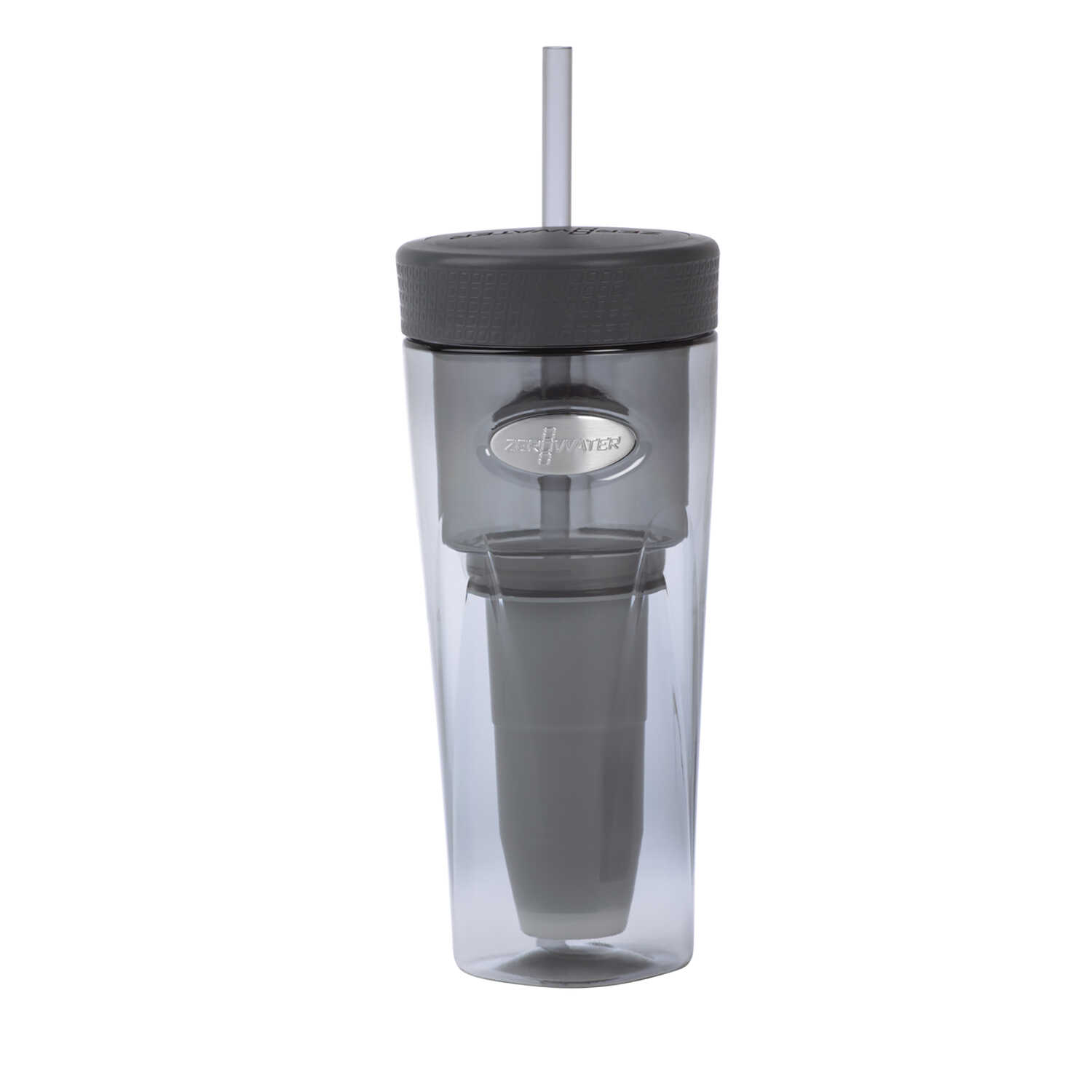 Zero Water  Gray  Plastic  Filtered Water Bottle  BPA Free 26 oz.