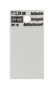 Hy-Ko  1 in. Reflective Black  Vinyl  Special Character  Blank  Self-Adhesive  1 pc.