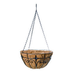 Panacea  Steel  Hanging Basket  Black