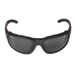 Milwaukee  Anti-Fog Polarized Performance Safety Glasses with Gasket  Tinted Lens Black/Red Frame 1
