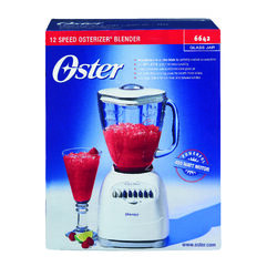 Oster  Duralast  White  Stainless Steel  Blender  5 cups 12 speed