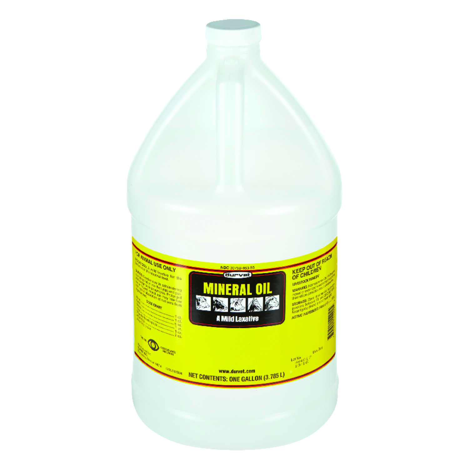 Durvet  Liquid  Mineral Oil  For All Animals 1 gal.