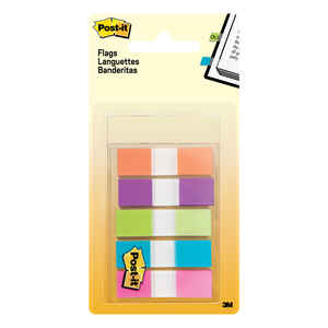 Post-It  0.5 in. W x 1.7 in. L Assorted  Page Markers  5 pad