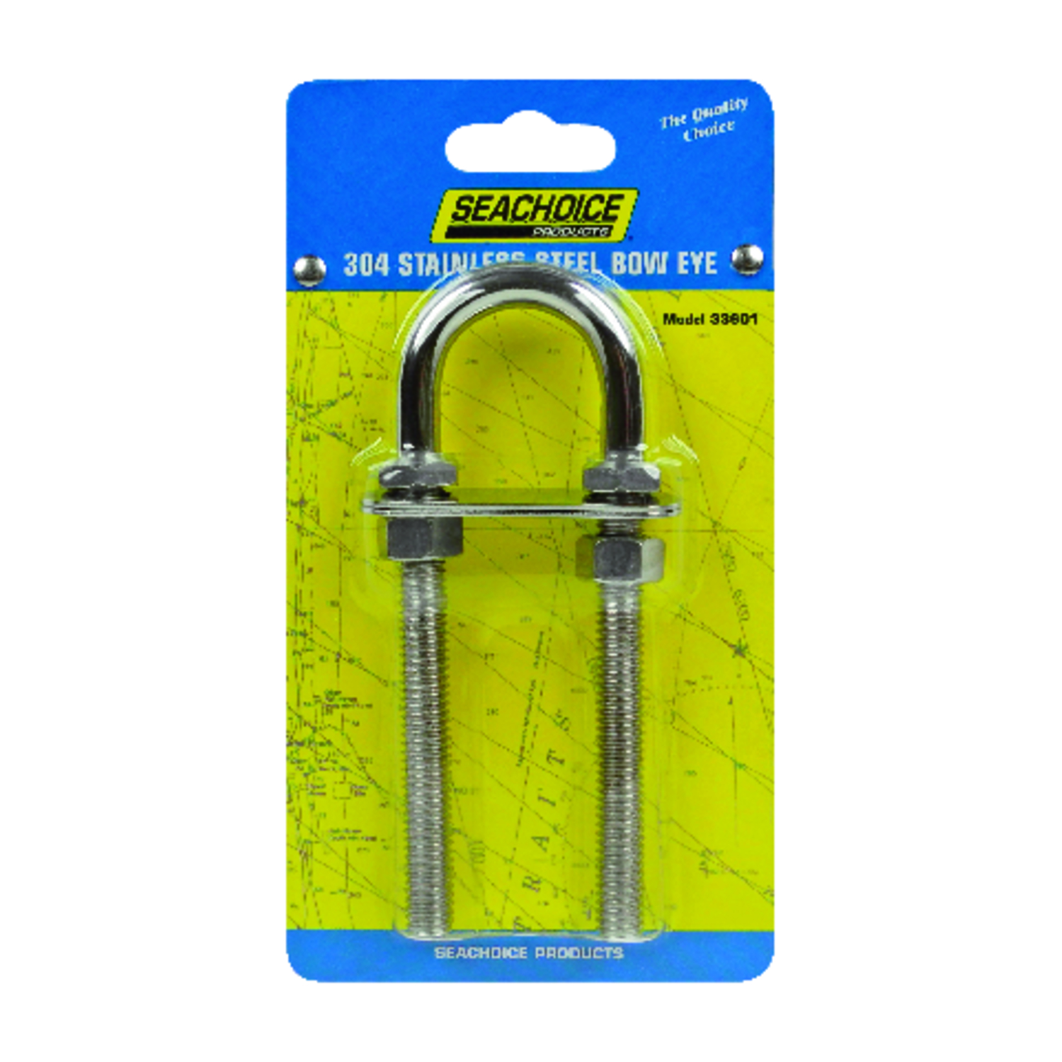 Seachoice  Stainless Steel  0.375 in. L x 3/8 in. W 12 pc. Bow Eye