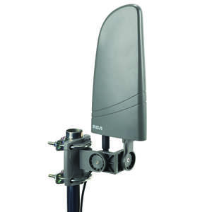 RCA  HDTV  Indoor and Outdoor  1 pk Digital Amplified Flat Antenna