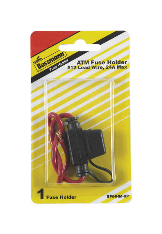 Buss  30 amps ATC  Black/Red  32 volts 1 pk In-Line Fuse Holder