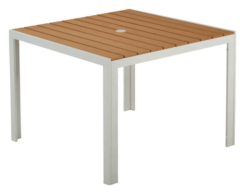 Living Accents  White  Nantucket  Square  Table