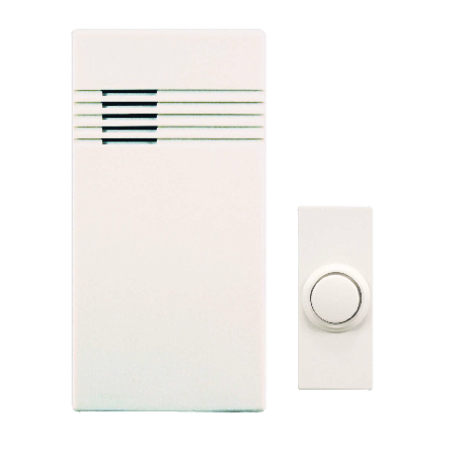 Heath Zenith  White  Plastic  Wireless  Door Chime Kit