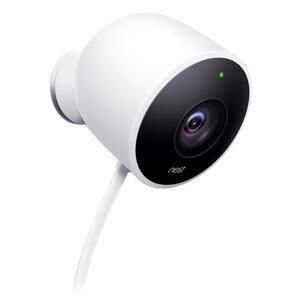Google  Nest  Plug-in  Outdoor  White  Wi-Fi Security Camera