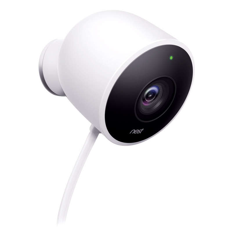 Nest  Outdoor Cam  White  Outdoor Security Camera
