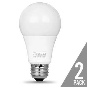 FEIT Electric  9.5 watts A19  LED Bulb  800 lumens A-Line  Warm White  60 Watt Equivalence