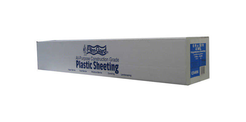 Berry Plastics  Film-Gard  Plastic Sheeting  4 mil  x 6 ft. W x 50 ft. L Polyethylene  Clear