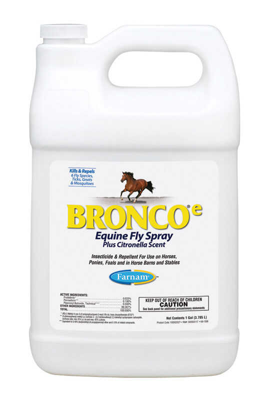 Farnam  Bronco Equine Fly Spray  Insect Killer  1 gal.