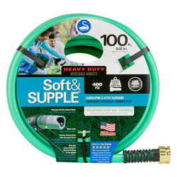 Swan Soft&SUPPLE 5/8 in. Dia. x 100 ft. L Heavy-Duty Green PVC Garden Hose