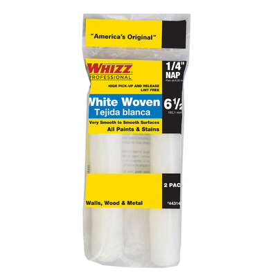 Whizz Woven 6.5 in. W x 1/4 in. Mini Paint Roller Cover 2 pk