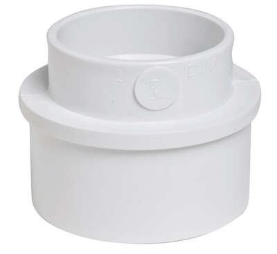 Plastic Trends 3 in. Spigot x 2 in. Dia. Hub PVC Reducing Bushing
