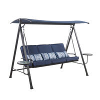 Living Accents 3 person Black Steel Frame Swing with Tables Deals