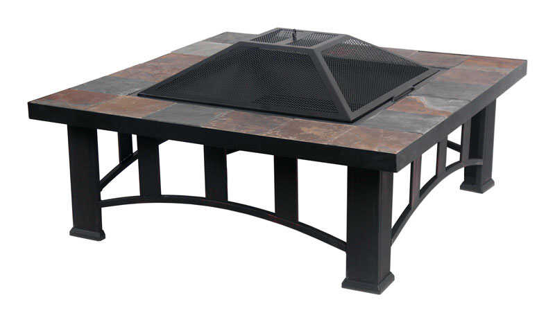 Living Accents Slate Table Top Wood Fire Pit 17.5 in. H x 36 in. - Living Accents Slate Table Top Wood Fire Pit 17.5 In. H X 36 In. W X