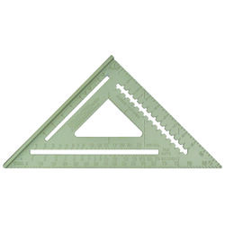 Johnson 8-3/4 in. L x 17 in. H Aluminum Rafter Square Silver