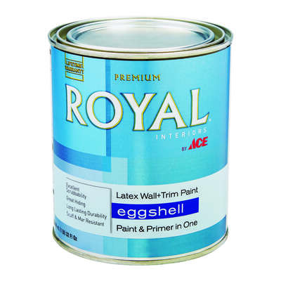 Ace  Royal  Eggshell  Midtone Hi-Hide Base  Vinyl Acetate/Ethylene  Interior Latex Wall+Trim Paint