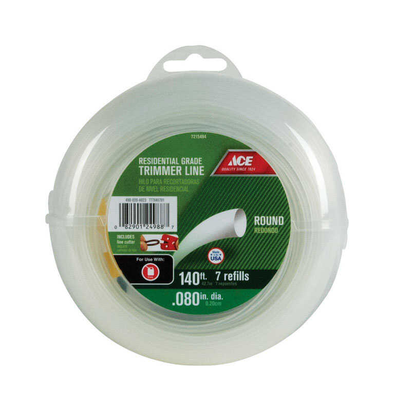 Ace  Residential Grade  0.080 in. Dia. x 140 ft. L Trimmer Line