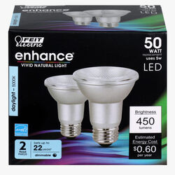 Feit Electric  Enhance  PAR20  E26 (Medium)  LED Bulb  Daylight  50 Watt Equivalence 2 pk