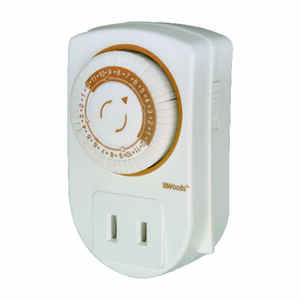 Coleman Cable  Indoor  Mini Mechanical Timer  125 volt White