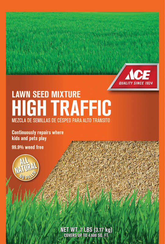 Ace  High Traffic  Mixed  Lawn Seed Mixture  7 lb.