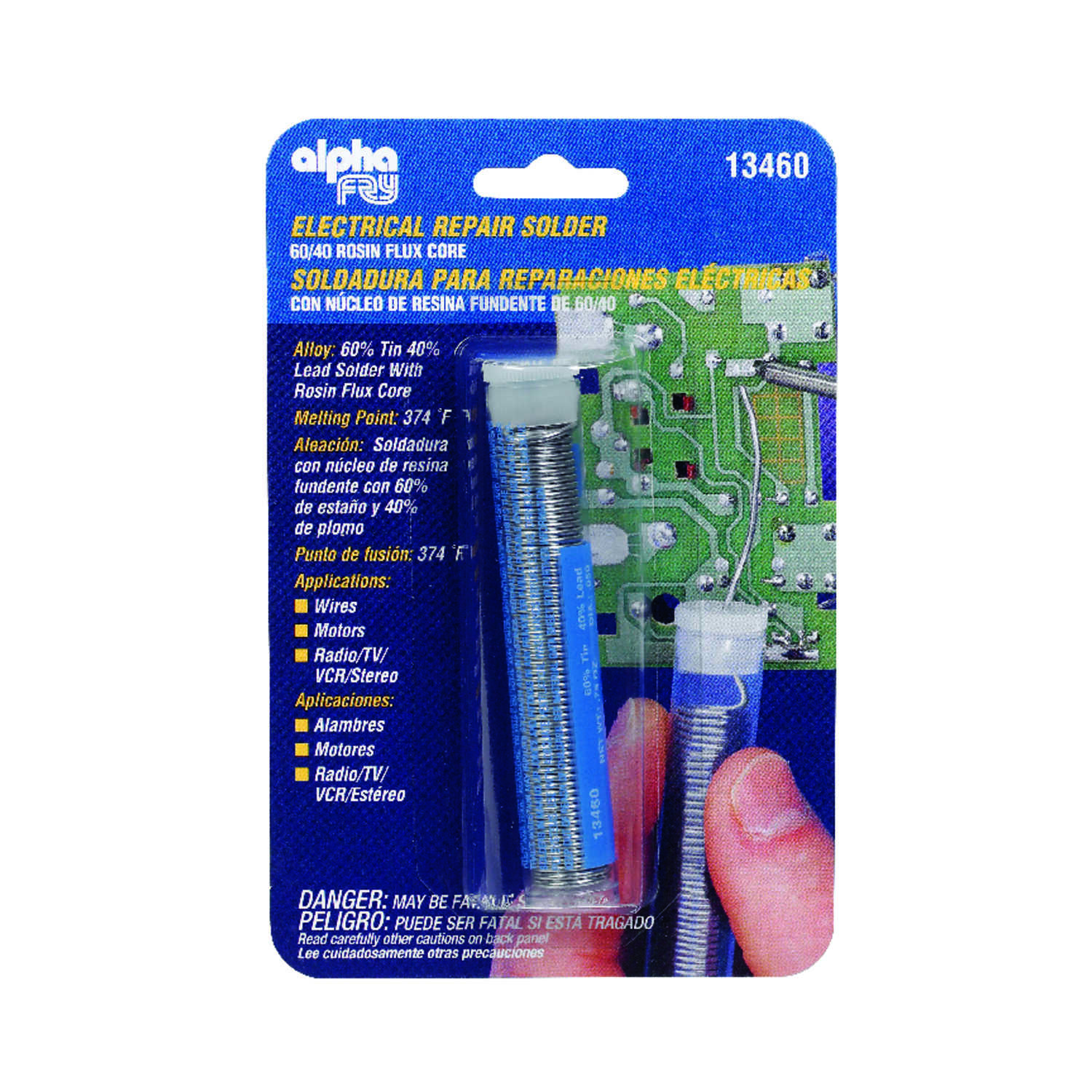 Alpha Fry  3/4 oz. Repair Solder  Tin / Lead  60/40  0.05 in. Dia.