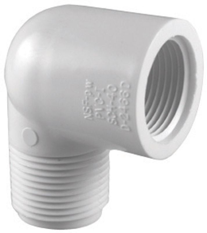 Charlotte Pipe  Schedule 40  3/4 in. MPT   x 3/4 in. Dia. MPT  PVC  90 deg. Street Elbow