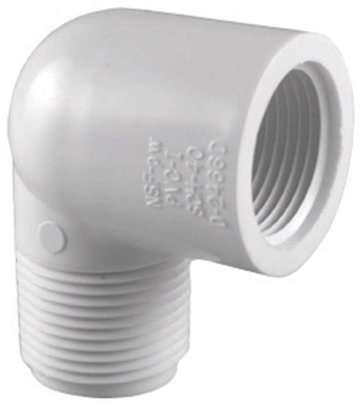 Charlotte Pipe  Schedule 40  3/4 in. MPT   x 3/4 in. Dia. FPT  PVC  Street Elbow