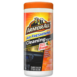 Armor All  Orange  Leather/Rubber/Vinyl  Air Freshening Protectant  25 wipes Tub  1 pk