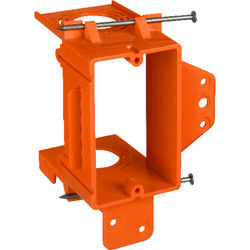 Carlon  5.16 in. Rectangle  PVC  1 gang Low Voltage Mounting Bracket  Orange