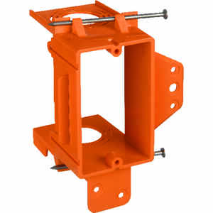 Carlon  3.73 in. L Rectangle  5.16 in. 1 gang PVC  Orange  Low Voltage Mounting Bracket