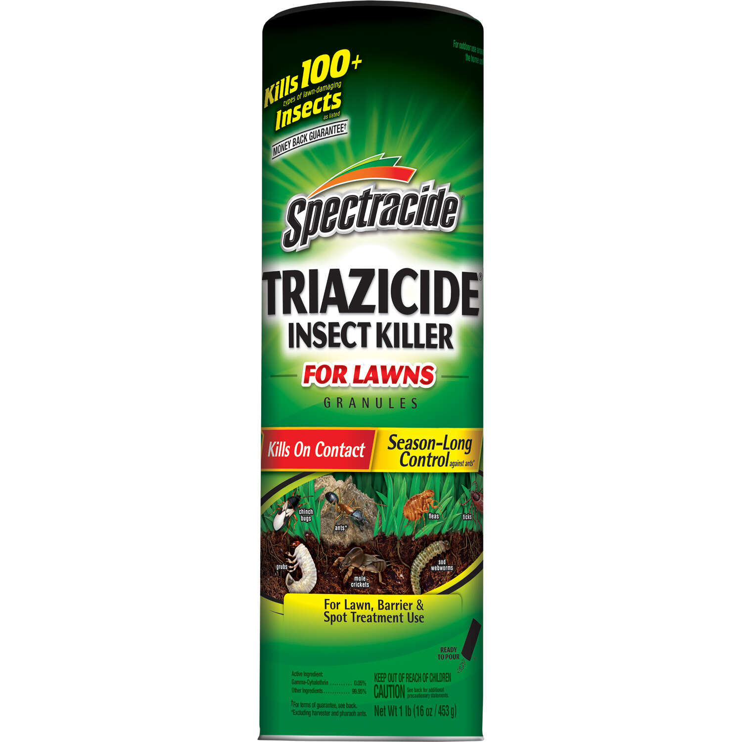 Spectracide  Triazicide for Lawns  Granules  Insect Killer  1 lb.