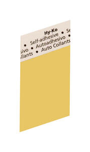 Hy-Ko  1-1/2 in. Black  Aluminum  Special Character  Blank  Self-Adhesive  1 pc.