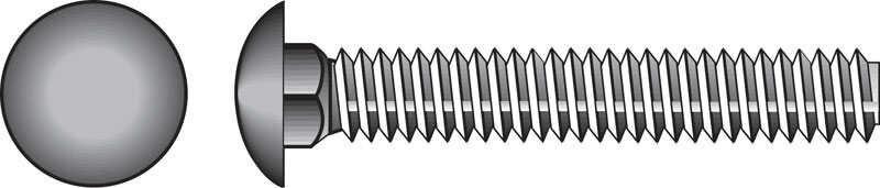HILLMAN  1/4  Dia. x 4-1/2 in. L Zinc-Plated  Steel  Carriage Bolt  100 pk