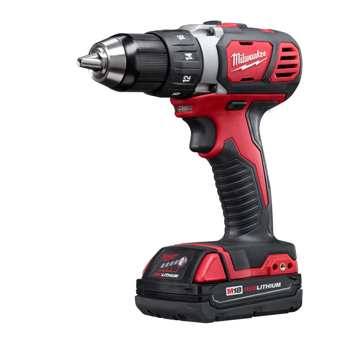 Milwaukee M18 Cordless Compact Drill/Driver 18 volts 2 Speed 0-400/0-1,800 rpm 1/2 in.   Li-Ion
