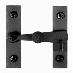 Acorn Matte Black Forged Iron Cabinet Latch
