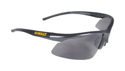 DeWalt  Radius  Anti-Fog Safety Glasses  Smoke Lens Black Frame 1 pc.