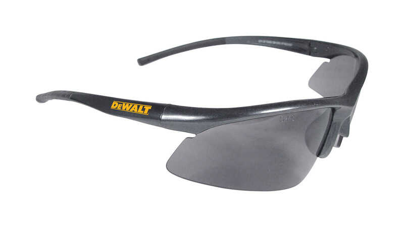 DeWalt  Radius  Anti-Fog Safety Glasses  Smoke Lens Black Frame 1 each