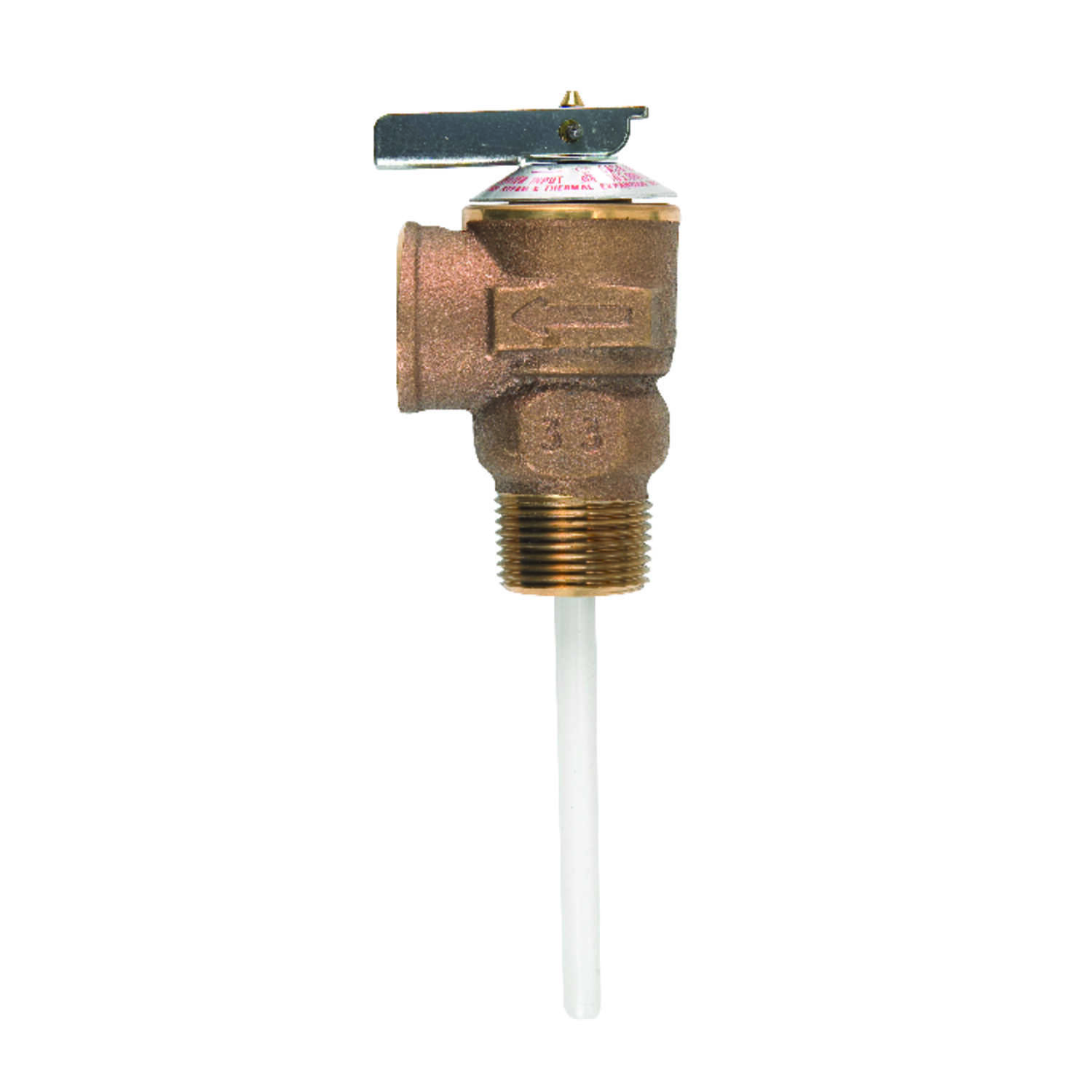 Cash Acme  3/4 in. Dia. Temperature and Pressure Relief Valve