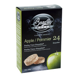 Bradley Smoker  Apple  All Natural Wood Bisquettes  24 pk