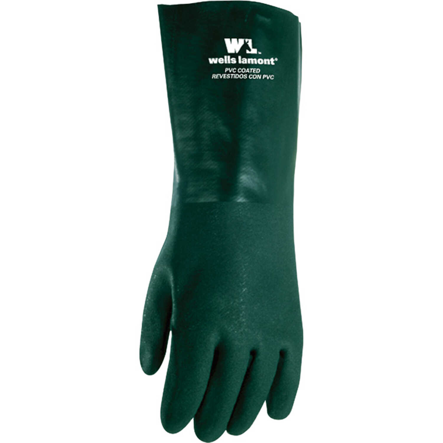 Wells Lamont  Men's  Indoor/Outdoor  PVC  Chemical Gloves  Green  L