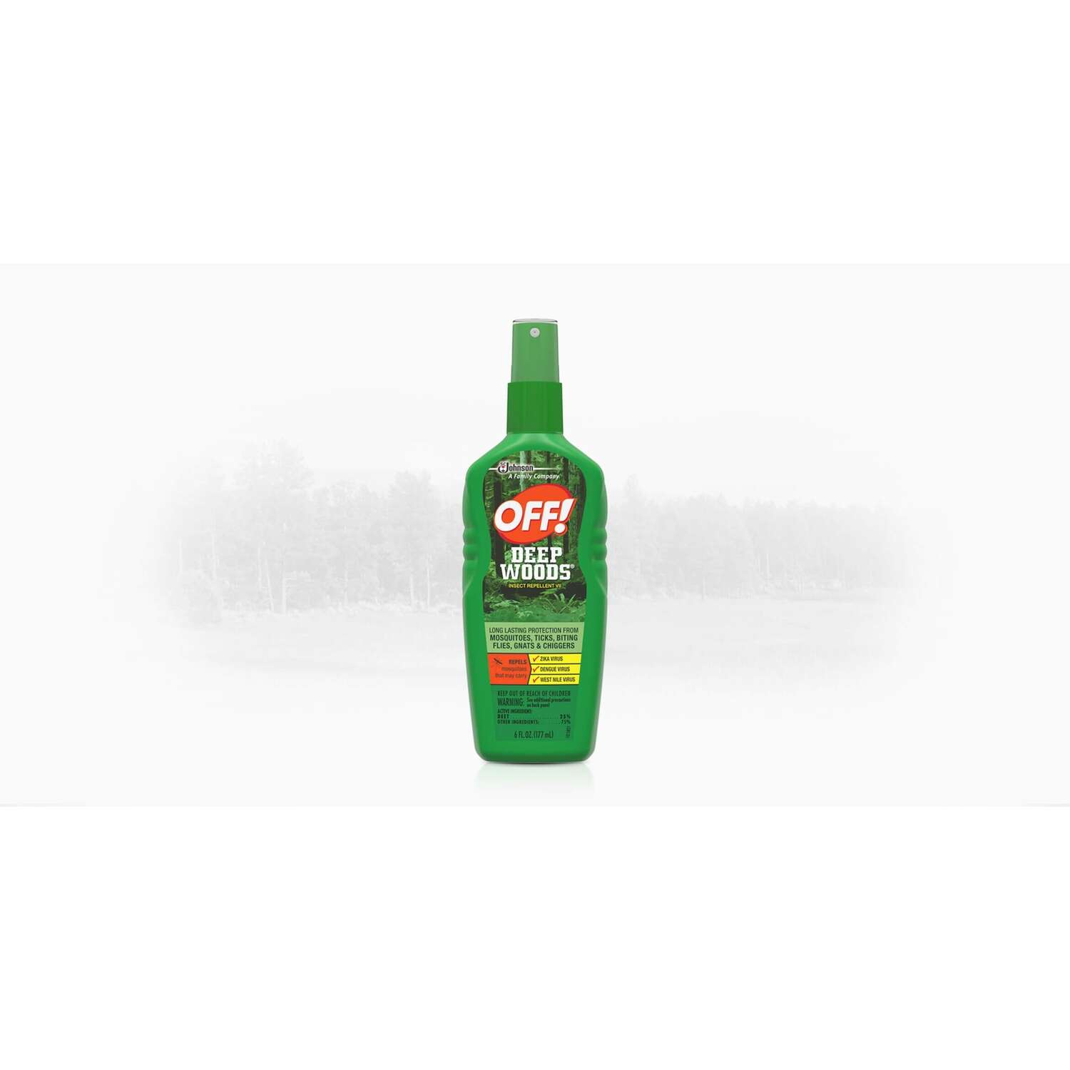 OFF!  Deep Woods  Insect Repellent  Liquid  For Gnats/Mosquitoes/Ticks 6 oz.