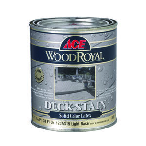 Ace  Wood Royal  Solid  Tintable Flat  tint base  Light Base  Acrylic Latex  Deck and Siding Stain