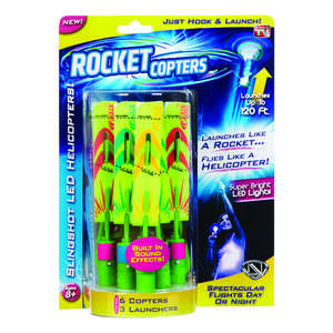 Rocket Copter  LED Helicopters  Plastic/Rubber