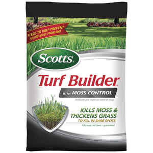 Scotts  Turf Builder  23-0-3  Lawn Fertilizer With Moss Control  For All Grass Types 25 lb.