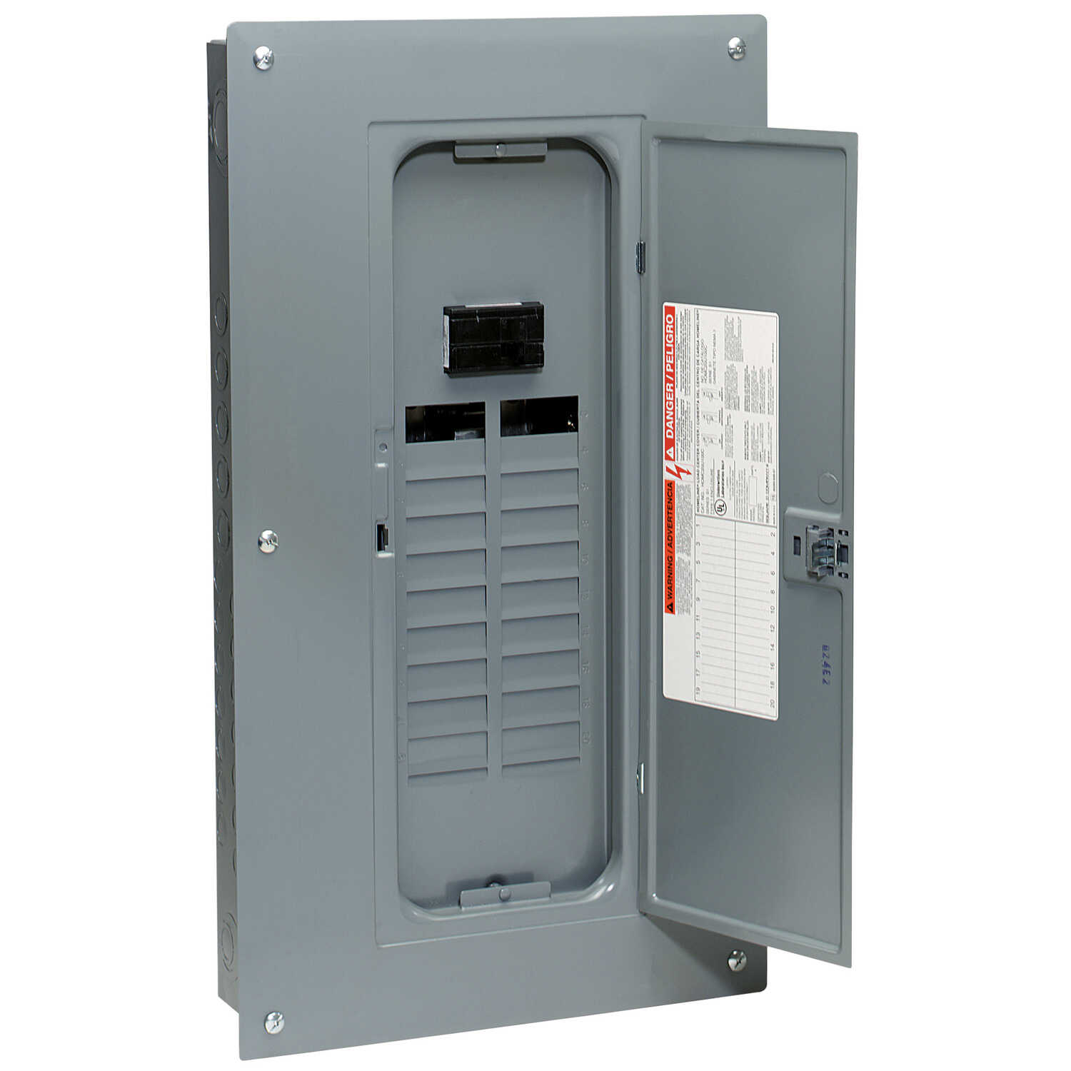 Square D  HomeLine  100 amps 120/240 volt 20 space 40 circuits Combination Mount  Main Breaker Load