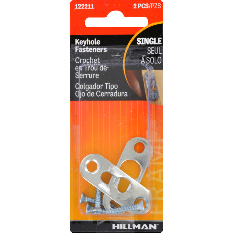 HILLMAN  AnchorWire  Steel-Plated  Steel  Keyhole  20 lb. 2 pk Picture Hanger